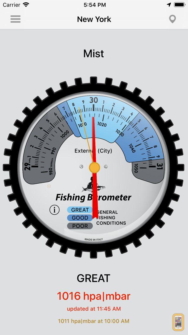 Screenshot - Fishing Barometer