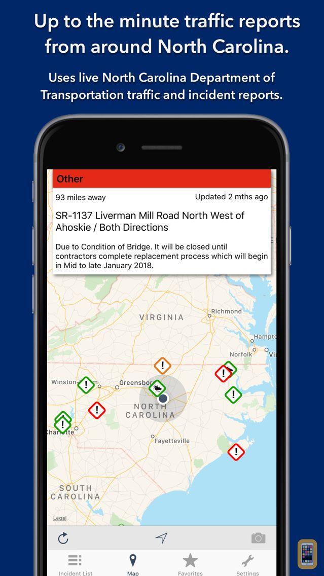 Screenshot - North Carolina Roads Traffic