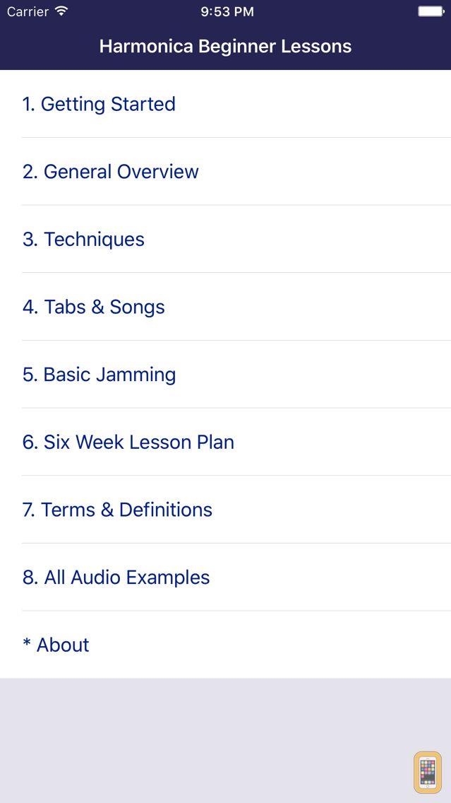 Screenshot - Harmonica Beginner Lessons
