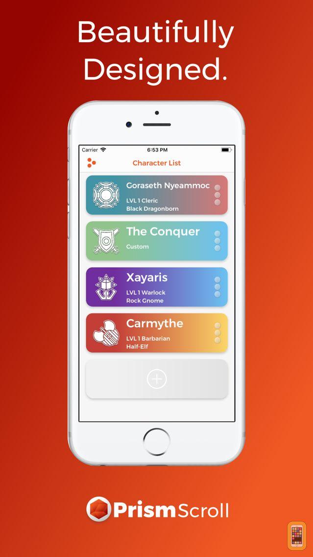 Screenshot - PrismScroll - Character Sheet