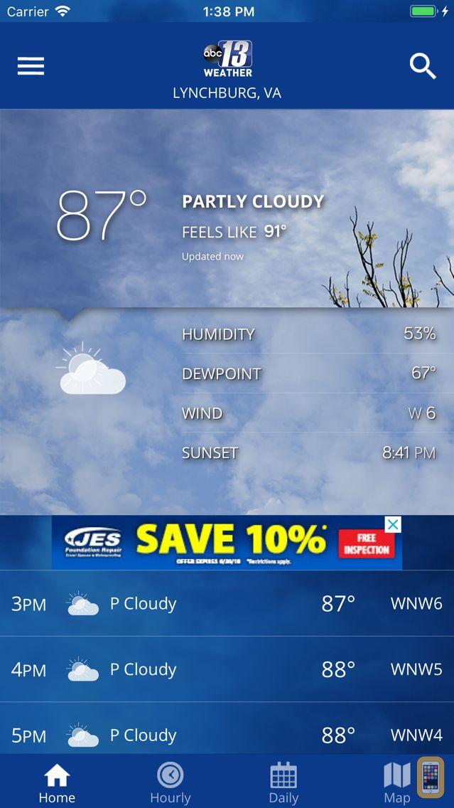 Screenshot - ABC13 Weather