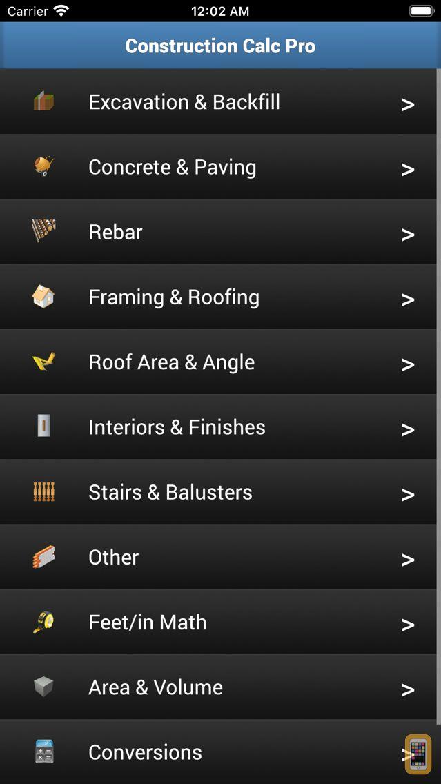 Screenshot - Construction Calc Pro 6