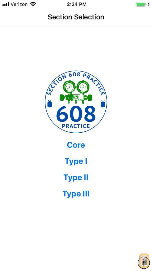 Screenshot - EPA 608 Practice