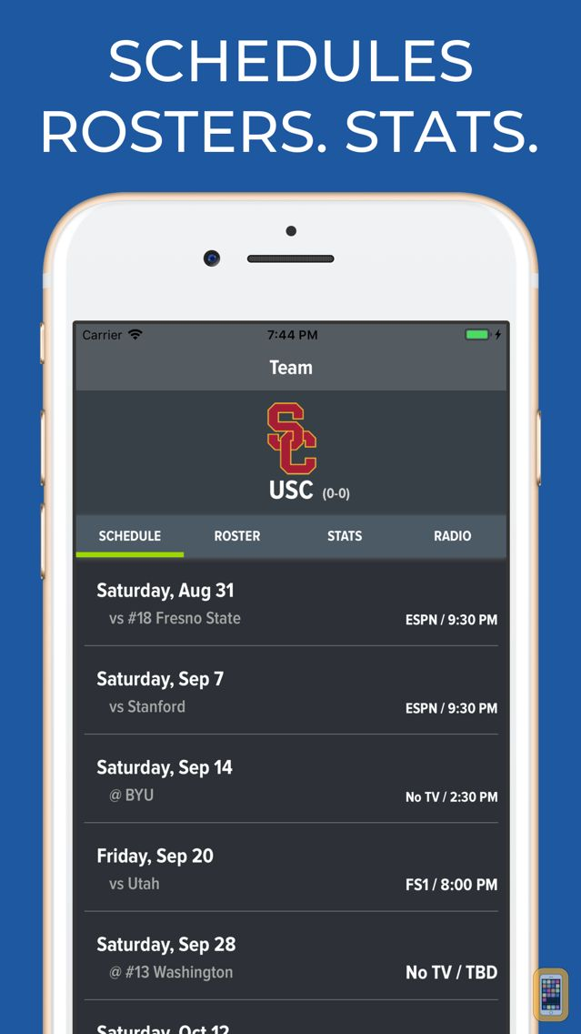 Screenshot - USC Football Schedules