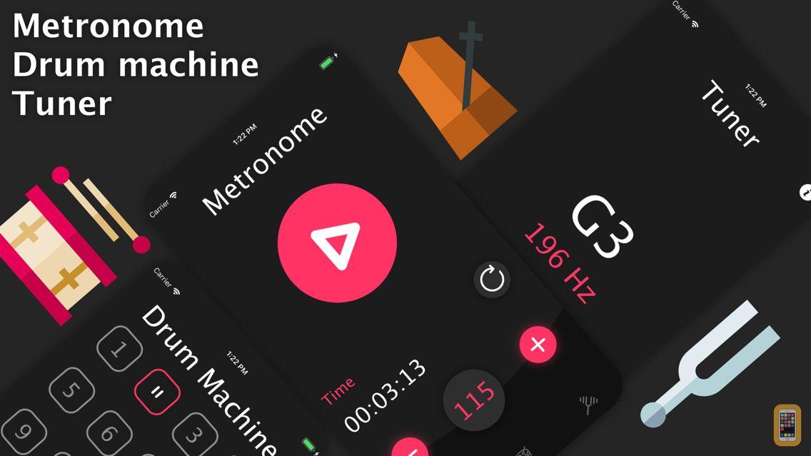 Screenshot - Metronome and Tuner - drum app