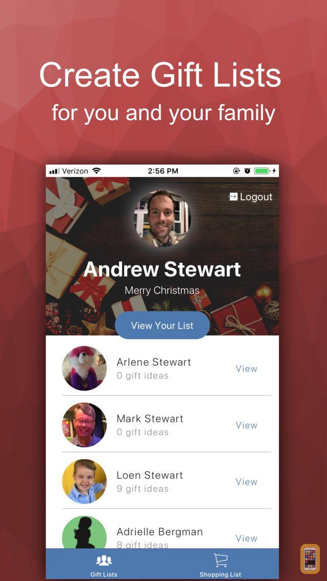 the christmas list app for iphone ipad app info stats iosnoops