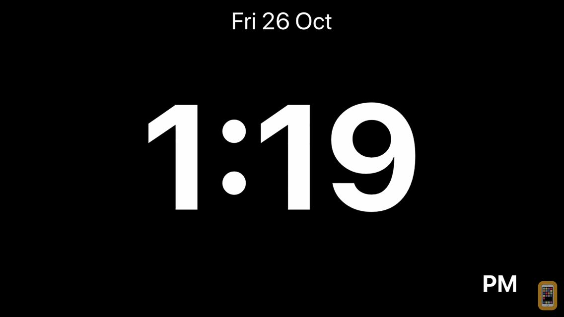 Screenshot - Minimalistic Bedside Clock