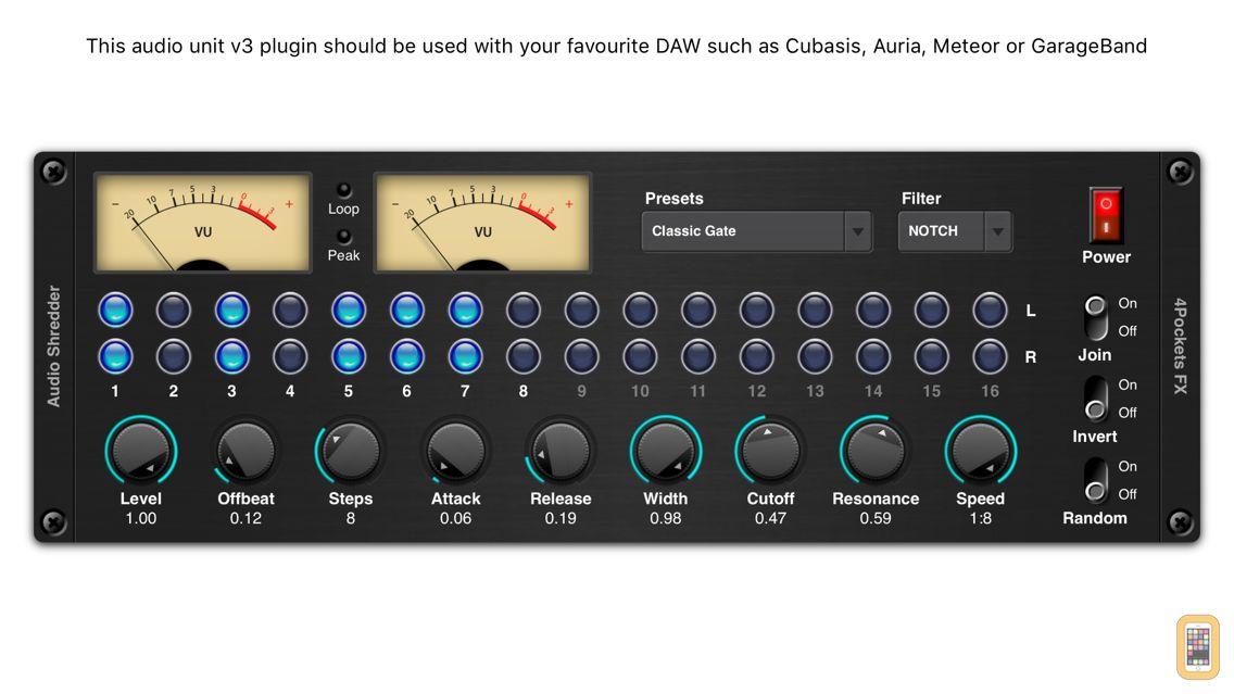 Screenshot - Audio Shredder AUv3 Plugin