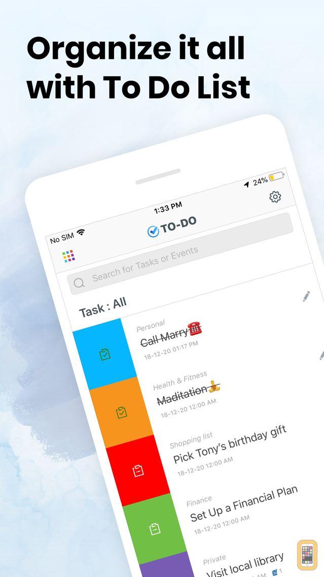 Screenshot - To Do List, Daily Check.list