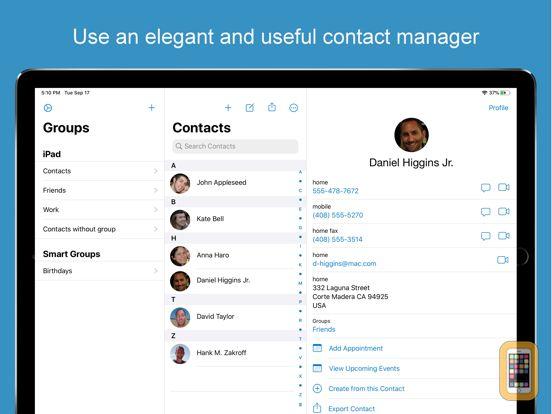 Screenshot - ContactsXL 2 for iPad