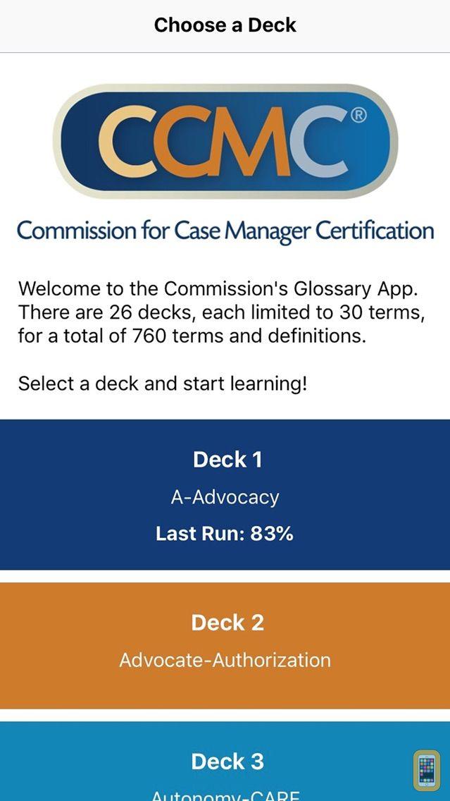 Screenshot - CCM Glossary App