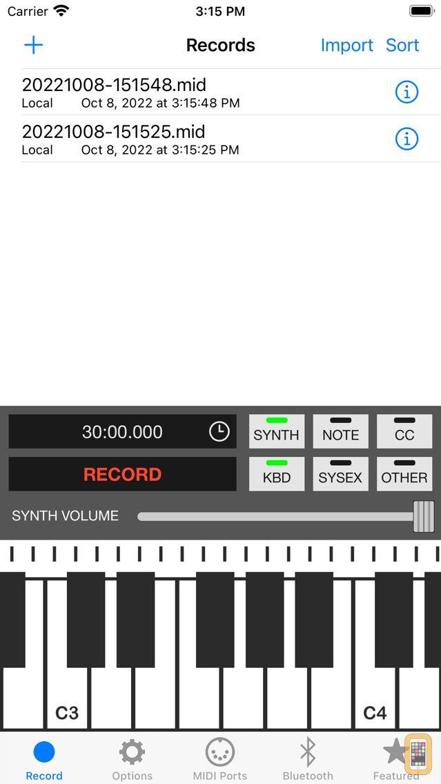 Screenshot - MIDI Recorder with E.Piano