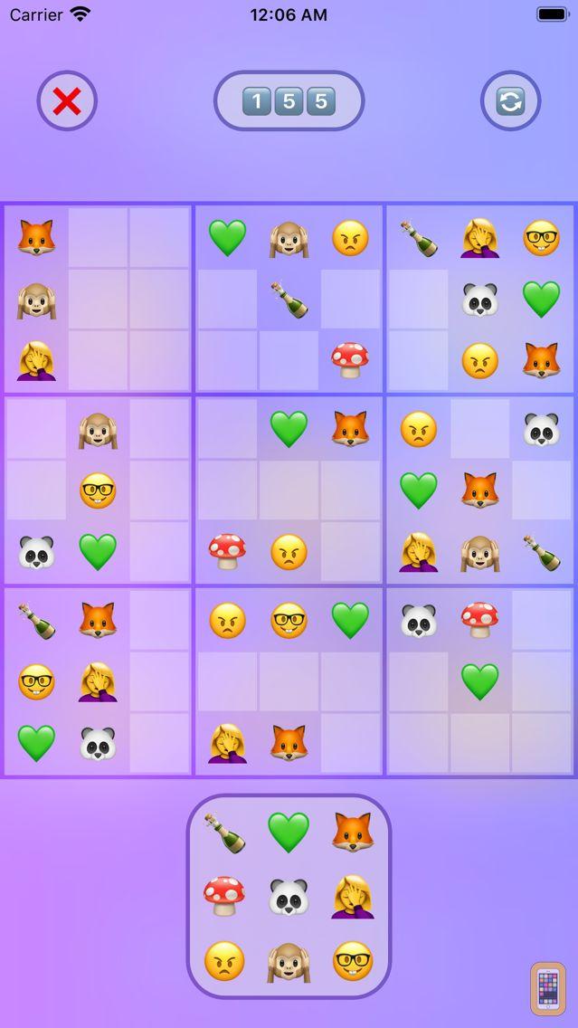 Screenshot - Jan's Emoji Sudoku