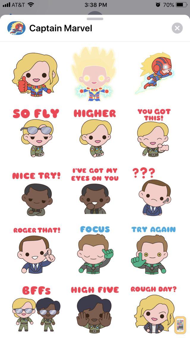 Screenshot - Captain Marvel Stickers