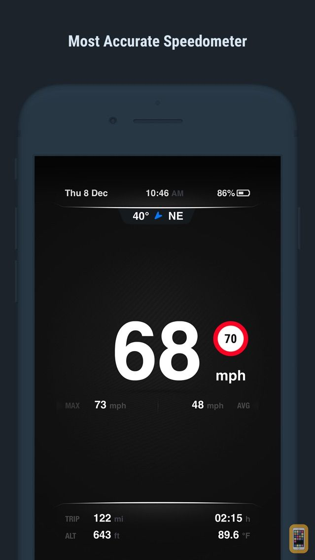 Screenshot - GPS Speedometer +