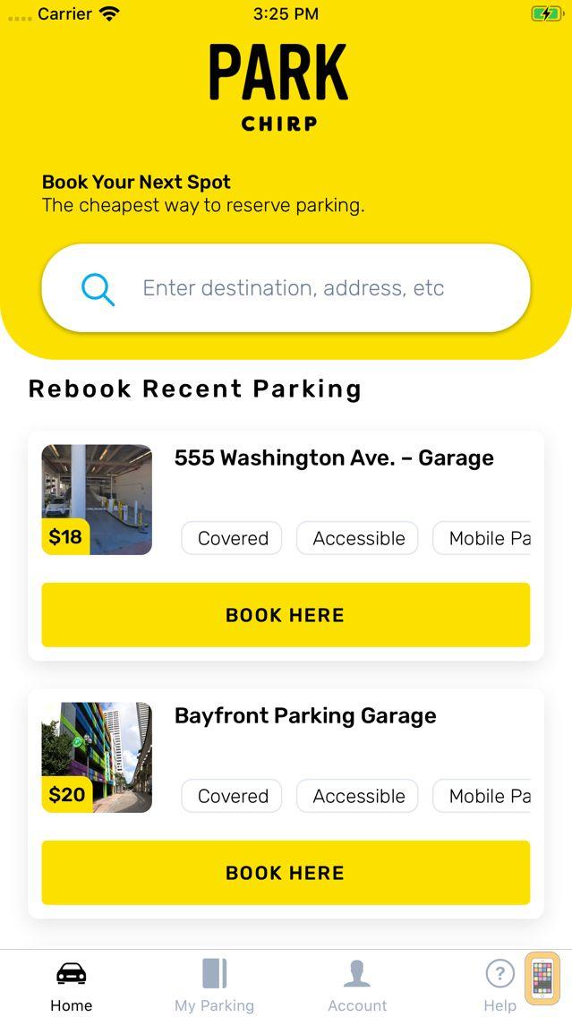 Screenshot - ParkChirp