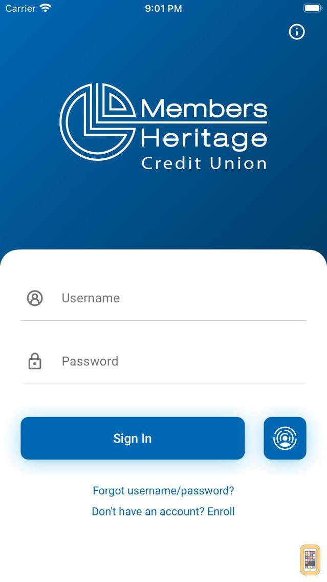 Screenshot - Members Heritage CU