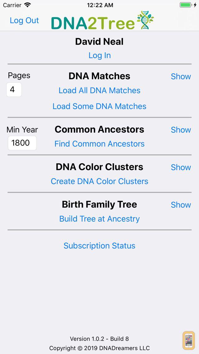 Screenshot - DNA2Tree