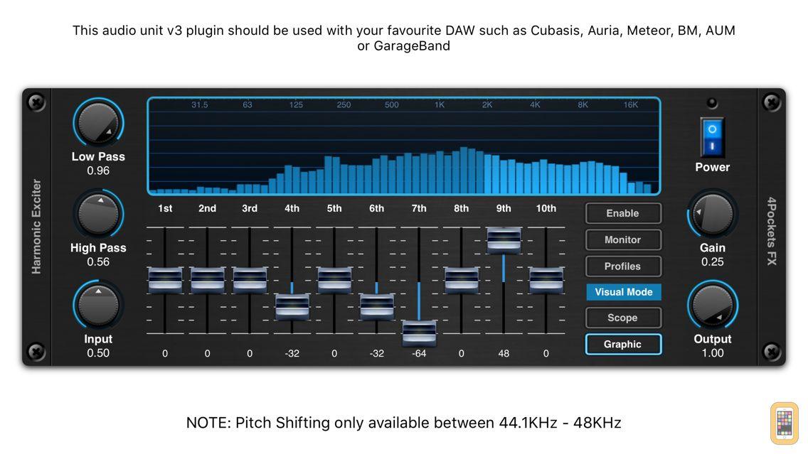 Screenshot - Harmonic Exciter AUv3 Plugin
