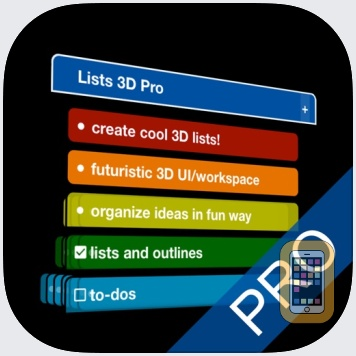 Lists 3D Pro - to-do & outline by Laurie Cates (Universal)