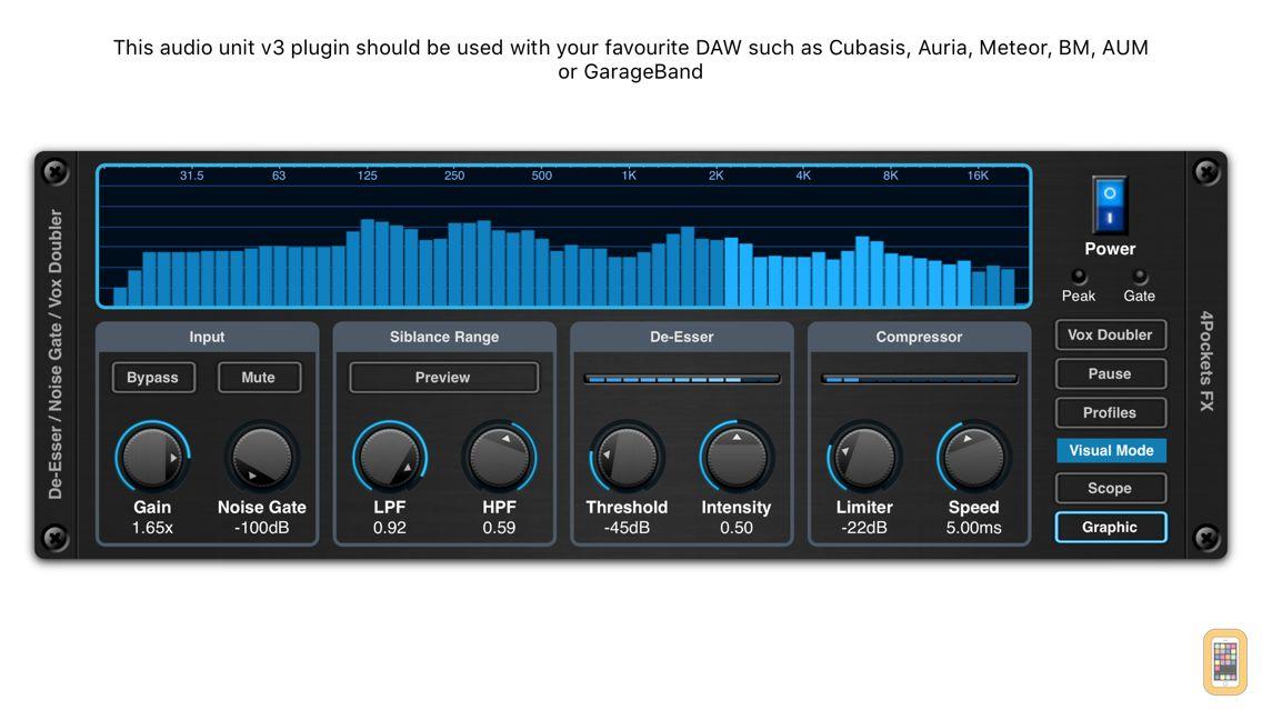 Screenshot - De-Esser AUv3 Audio Plugin