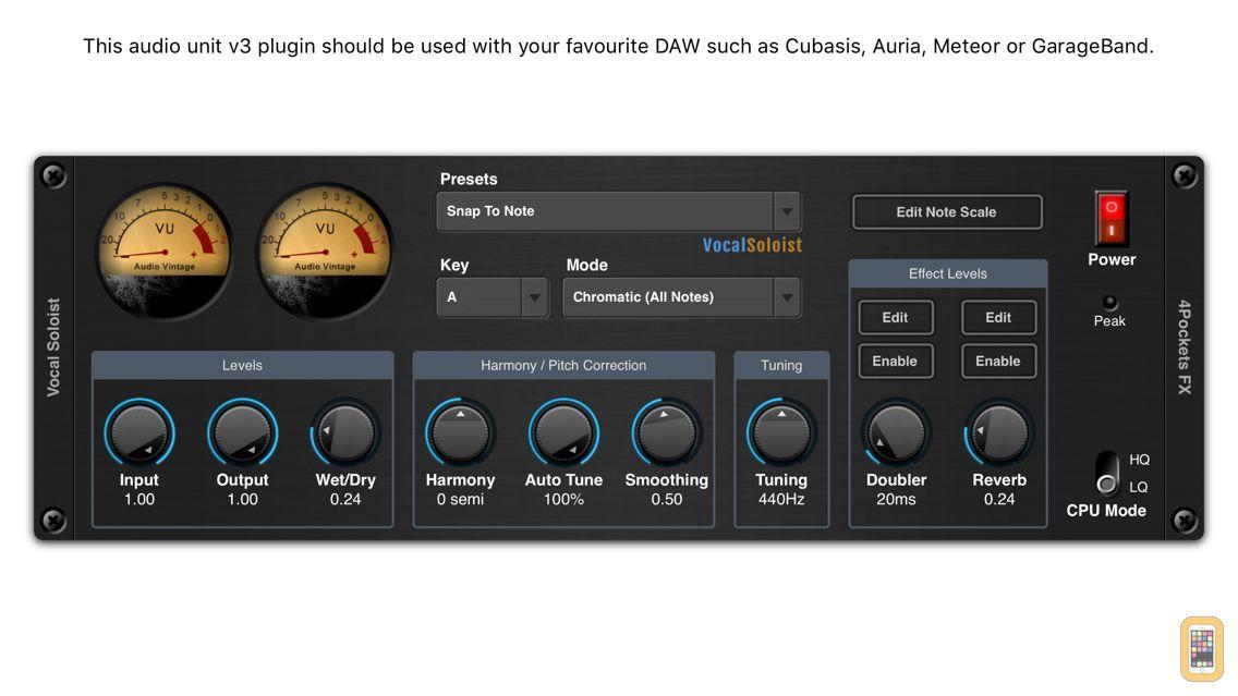 Screenshot - Vocal Soloist AUv3 Plugin