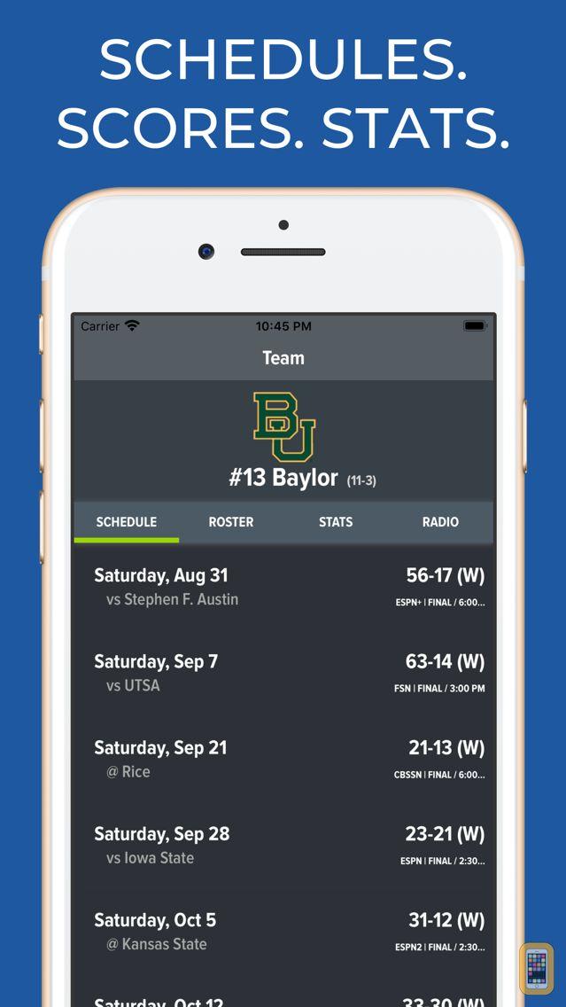 Screenshot - Baylor Football Schedules