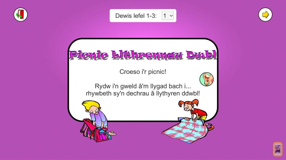 Screenshot - Picnic Llythrennau Dwbl