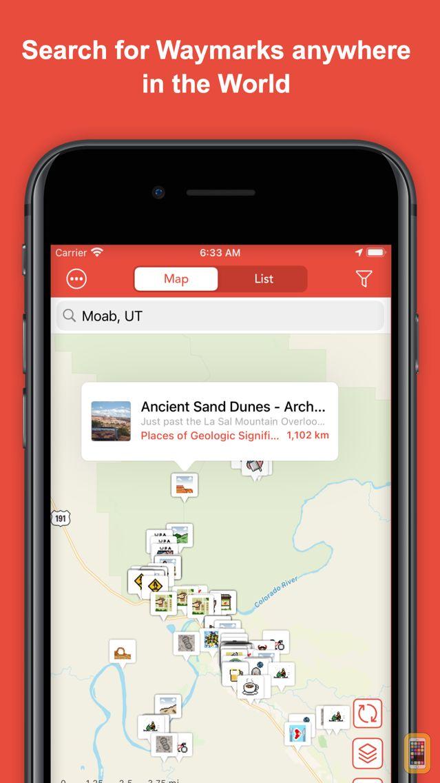 Screenshot - Waymarkly - A Waymarking App