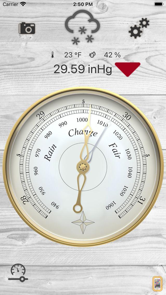 Screenshot - Professional Barometer