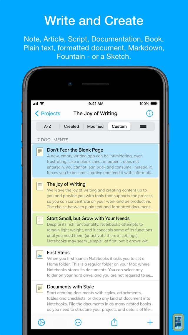 Screenshot - Notebooks 10: Write & Organize