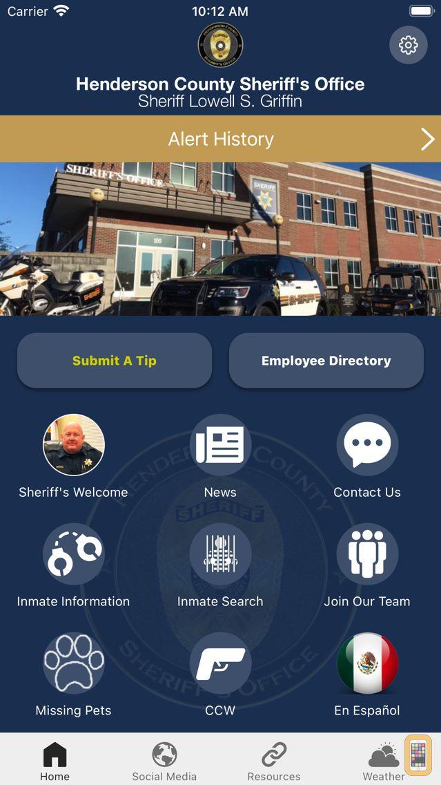 Screenshot - Henderson Co Sheriff's Office