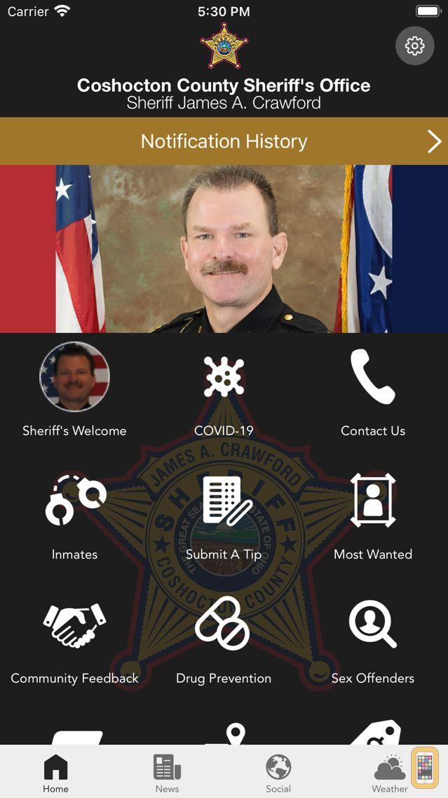 Screenshot - Coshocton County Sheriff