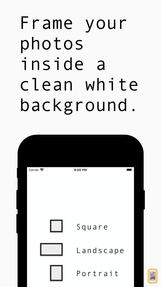 Screenshot - White Background Frame