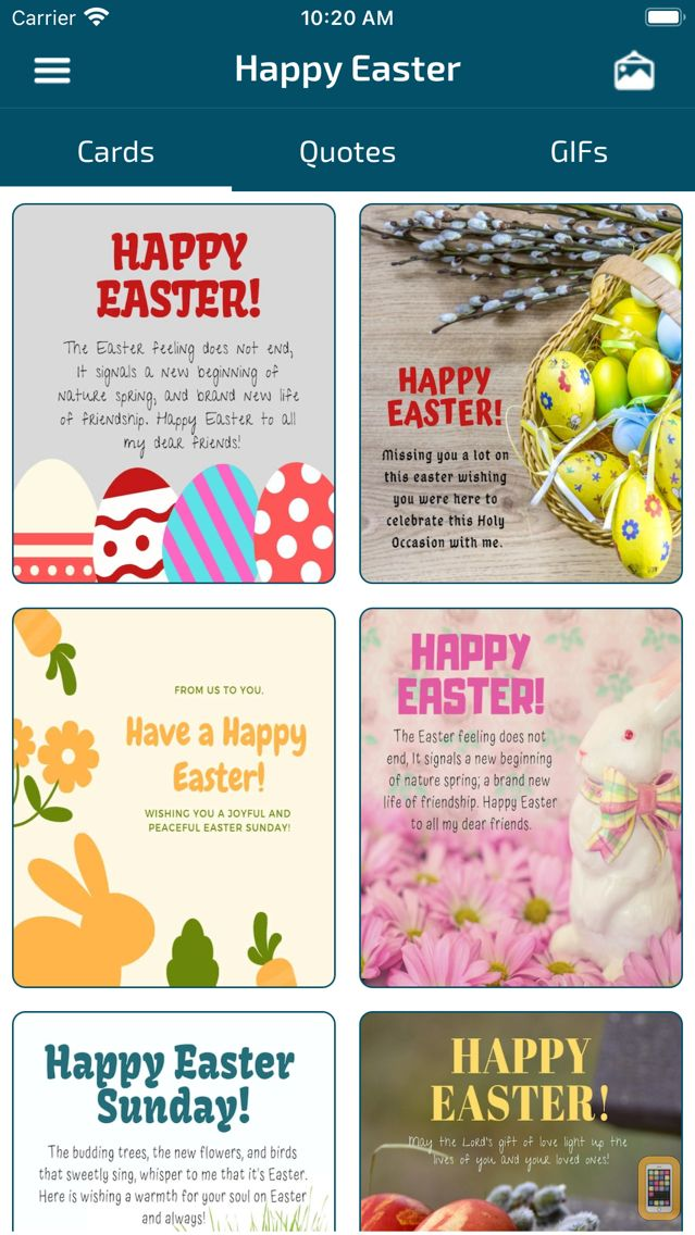 Screenshot - Happy Easter Wishes & Cards