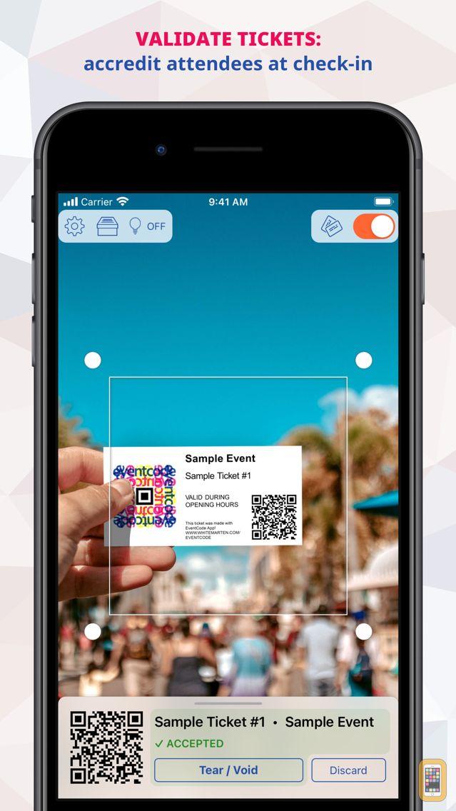 Screenshot - EventCode Tickets & Barcodes