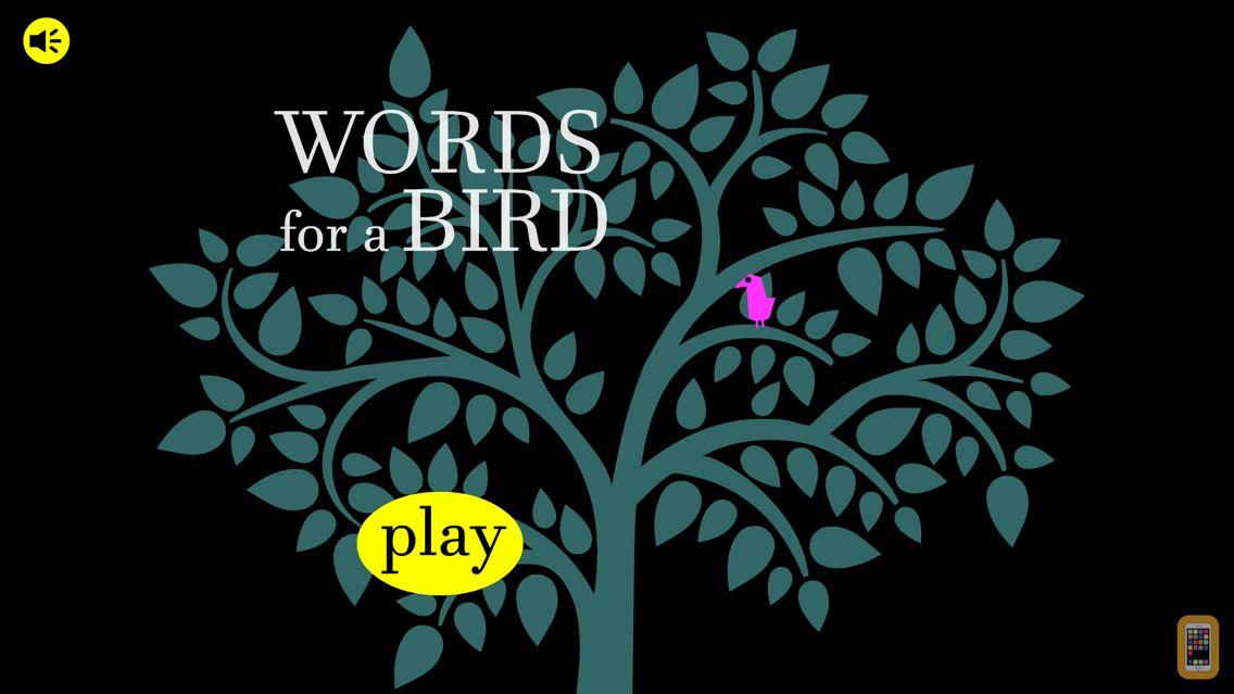 Screenshot - Words for a bird