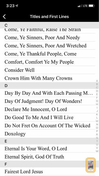 Screenshot - Trinity Psalter Hymnal
