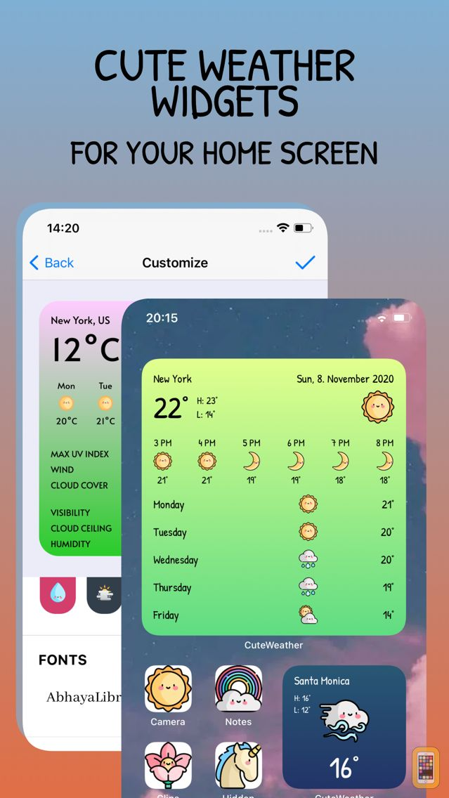 Screenshot - CuteWeather: weather widget
