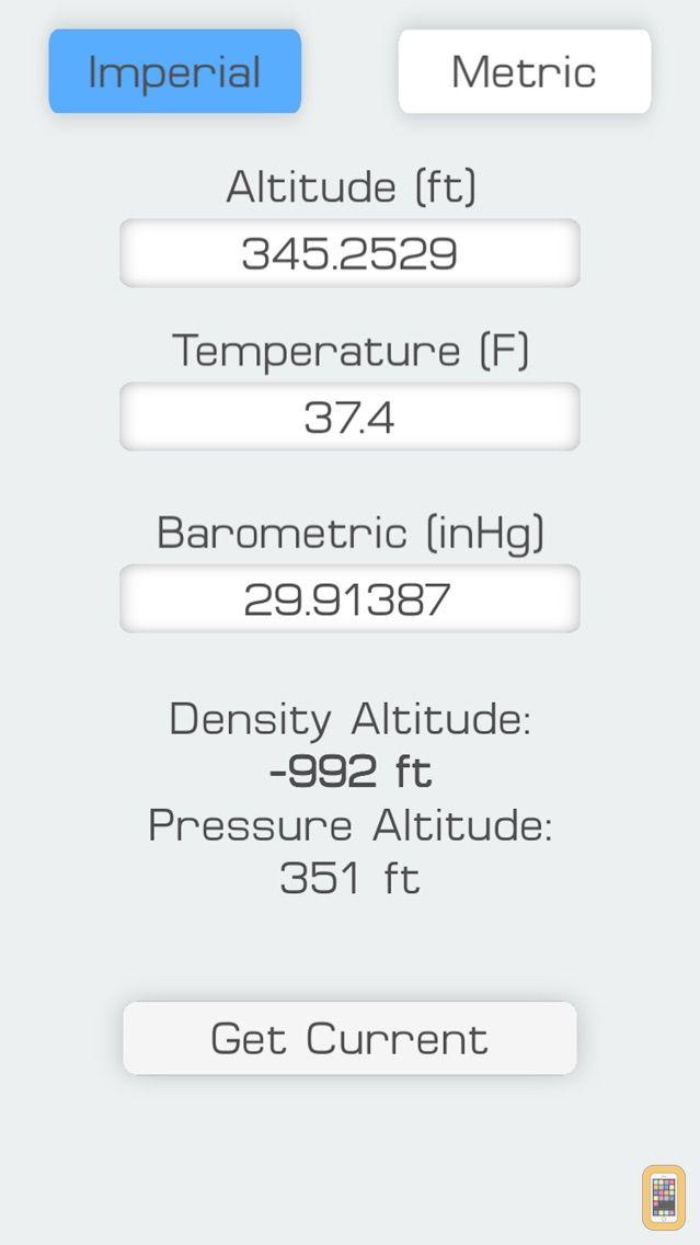 Screenshot - Density Altitude Meter