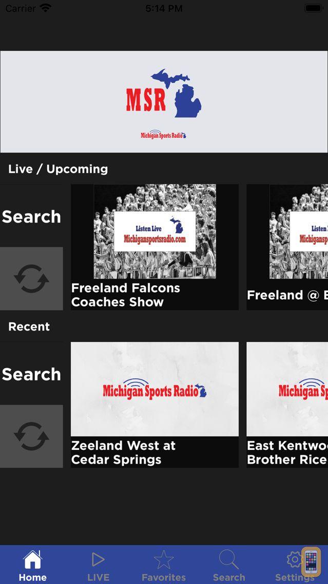 Screenshot - Michigan Sports Radio