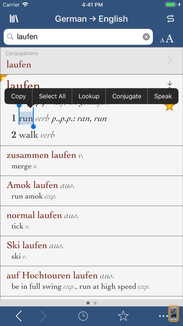 Screenshot - Ultralingua German-English
