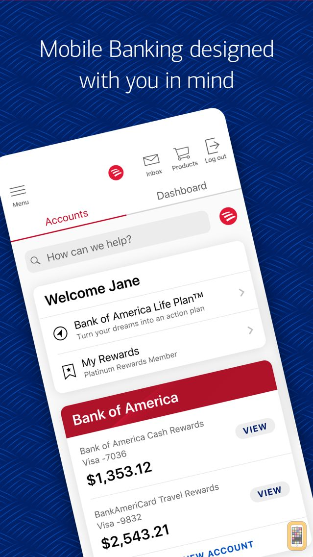 Screenshot - Bank of America - Mobile Banking