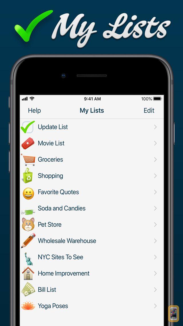 Screenshot - My Lists