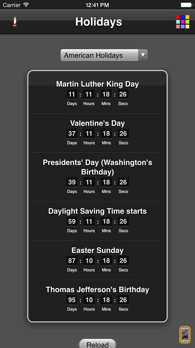 Screenshot - Holidays Countdown