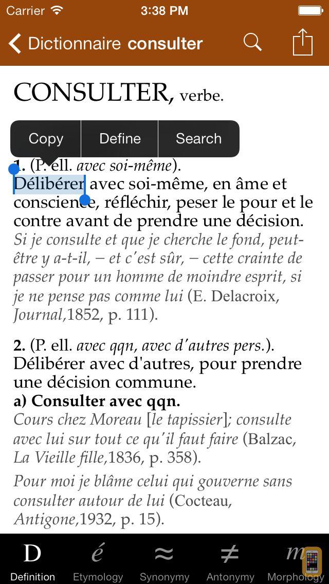 Screenshot - Dictionnaire