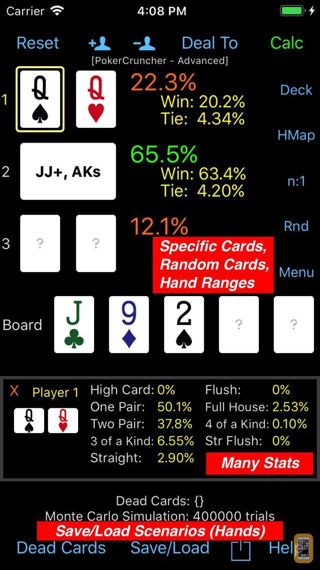 Screenshot - PokerCruncher - Advanced Odds
