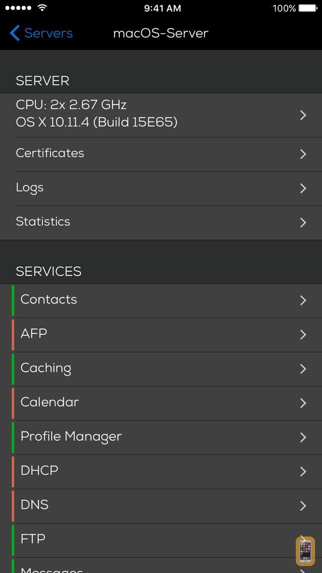 Screenshot - Server Admin Remote