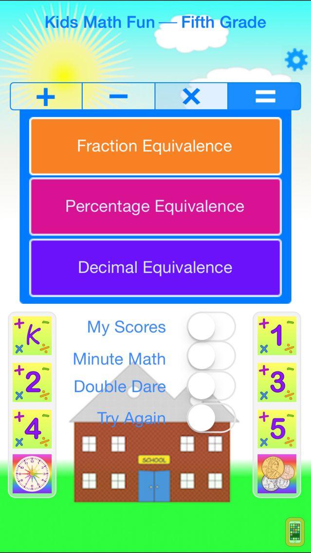 Screenshot - Kids Math Fun — Fifth Grade