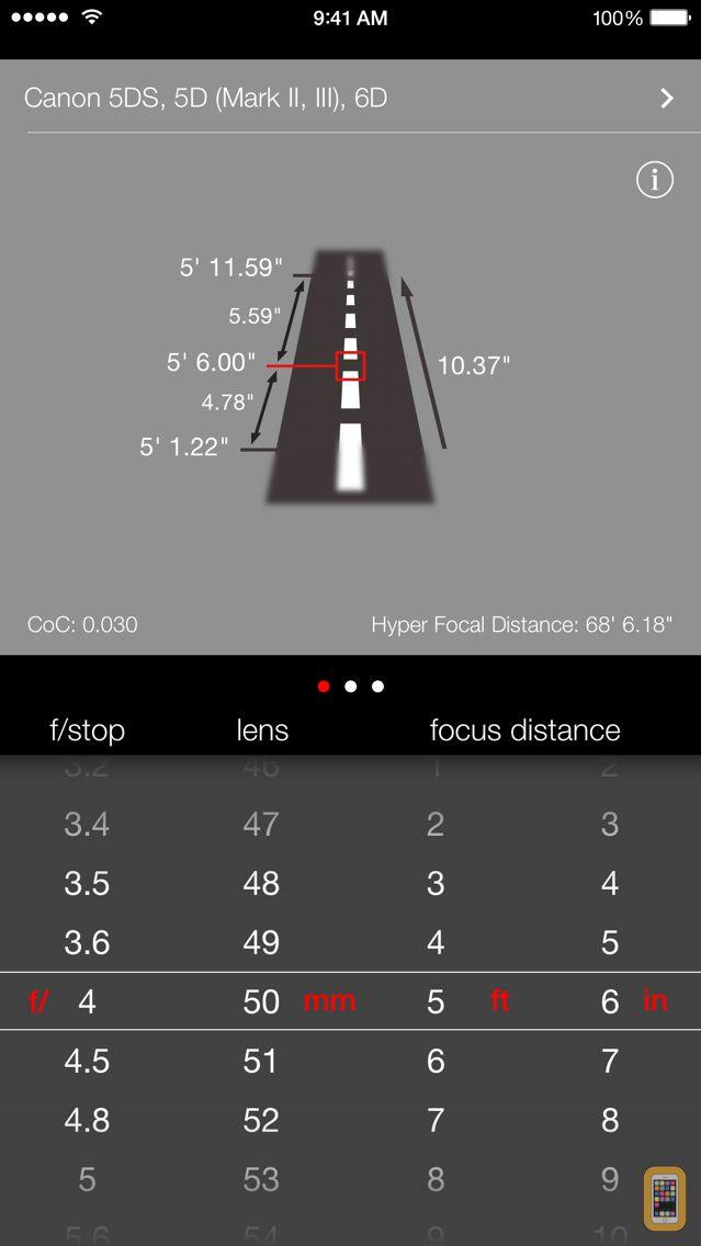 Screenshot - Simple DoF Calculator
